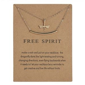 Jewelry - 💥[2 for $10]💥 Gold Free Spirit Bar Necklace